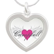 My Sweet Angel Campbell Silver Heart Necklace