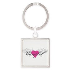 My Sweet Angel Campbell Square Keychain