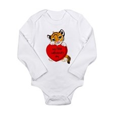 My First Valentines Day Tiger Body Suit
