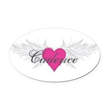 My Sweet Angel Cadence Oval Car Magnet