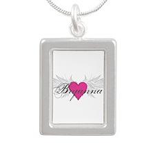 My Sweet Angel Bryanna Silver Portrait Necklace