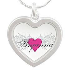My Sweet Angel Bryanna Silver Heart Necklace