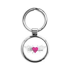 My Sweet Angel Bryanna Round Keychain