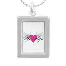 My Sweet Angel Brooklyn Silver Portrait Necklace