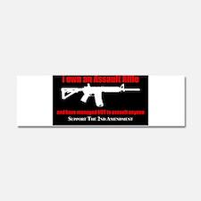Funny Gun in hand Car Magnet 10 x 3