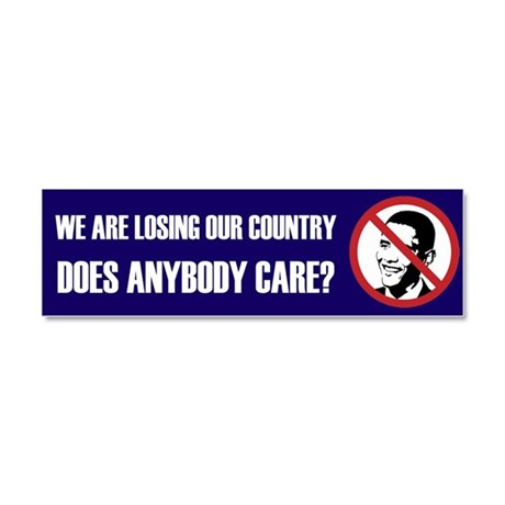 We Are Losing Our Country Car Magnet 10 x 3