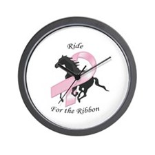 Ride for the Ribbon Wall Clock