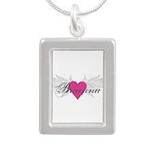 My Sweet Angel Brianna Silver Portrait Necklace