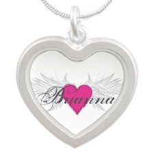My Sweet Angel Brianna Silver Heart Necklace