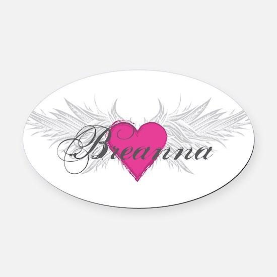 My Sweet Angel Breanna Oval Car Magnet