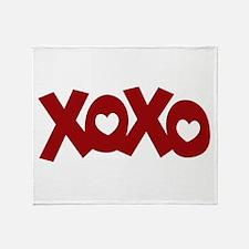 Hugs Kisses Hearts Throw Blanket