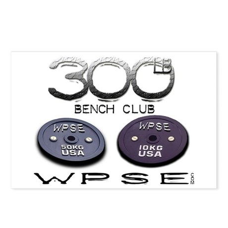 300lb Bench ClubPostcards (Package of 8)