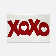 Hugs Kisses Hearts Rectangle Magnet (10 pack)