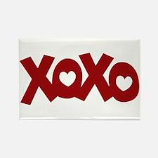 Hugs Kisses Hearts Rectangle Magnet