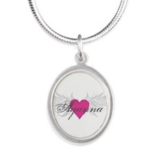 My Sweet Angel Ayanna Silver Oval Necklace