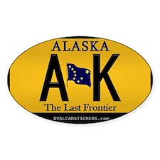 Alaska License Plate Sticker - AK (Rectangular) St