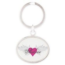 My Sweet Angel Aubree Oval Keychain