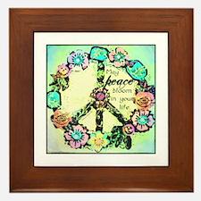 May Peace Bloom Framed Tile