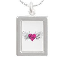 My Sweet Angel Ariella Silver Portrait Necklace