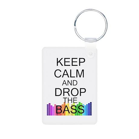 Keep Calm and Drop The Bass Aluminum Photo Keychai