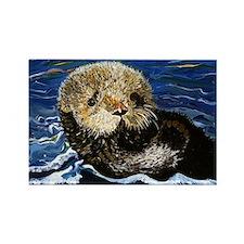 Sea Otter Rectangle Magnet