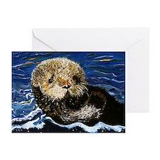 Sea Otter Greeting Card