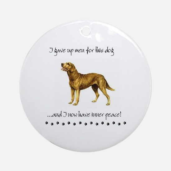 Giving Up Men for Dogs Round Ornament