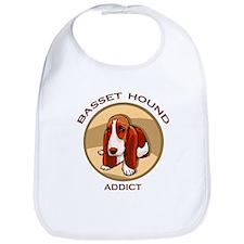 Basset Hound Addict Bib