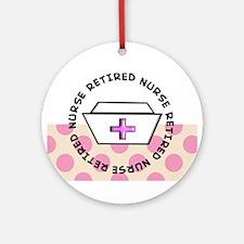 Retired Nurse G Ornament (Round)