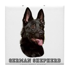 German Shepherd Athletics by Megan Noble Tile Coas