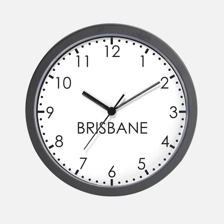 BRISBANE Modern Newsroom Wall Clock