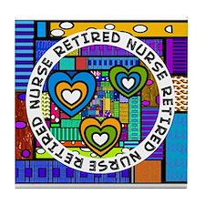 Retired Nurse D Tile Coaster