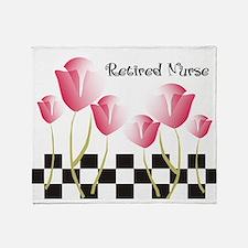 Retired Nurse A Throw Blanket