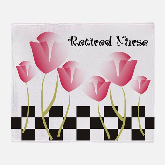 Retired Nurse A Throw Blanket