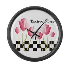 Retired Nurse A Large Wall Clock