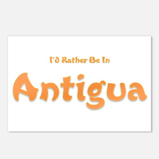 Id Rather Be...Antigua.png Postcards (Package of 8