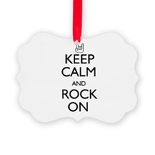 Keep Calm and Rock On Ornament