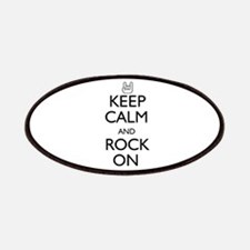Keep Calm and Rock On Patches