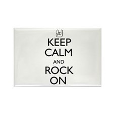 Keep Calm and Rock On Rectangle Magnet