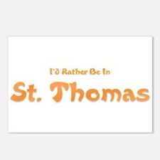 Id Rather Be...St. Thomas.png Postcards (Package o