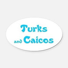 Turks and Caicos.png Oval Car Magnet
