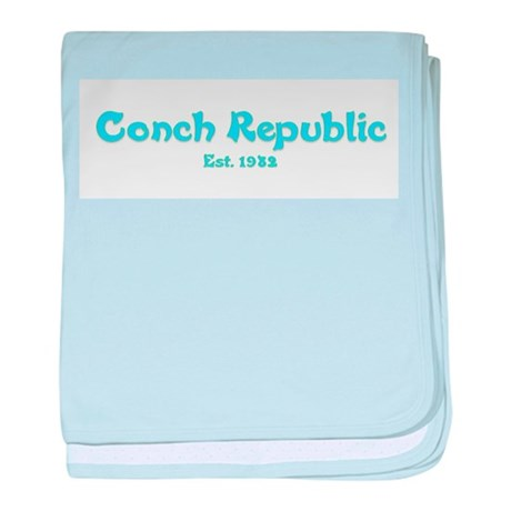 Conch Republic.png baby blanket