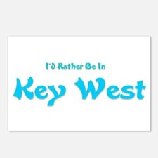 Id Rather Be In Key West.png Postcards (Package of