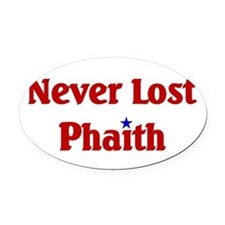 Never Lost Phaith.png Oval Car Magnet