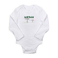 Get Off The Grid.png Long Sleeve Infant Bodysuit