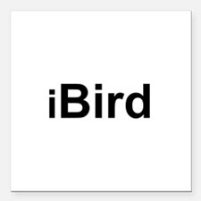 """iBird.png Square Car Magnet 3"""" x 3"""""""