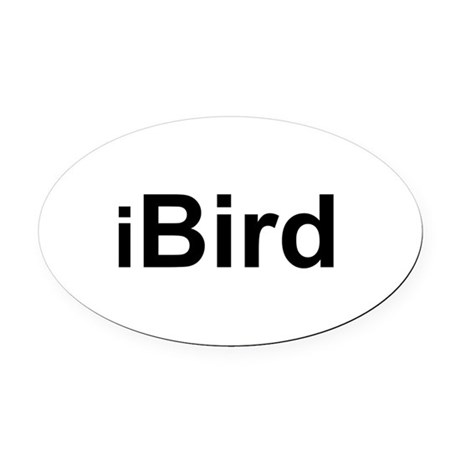 iBird.png Oval Car Magnet