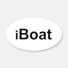 iBoat.png Oval Car Magnet