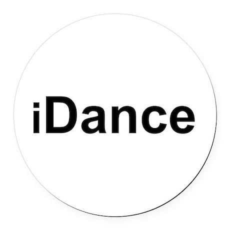 iDance.png Round Car Magnet