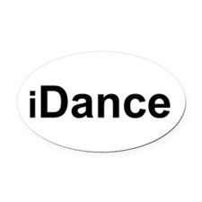 iDance.png Oval Car Magnet